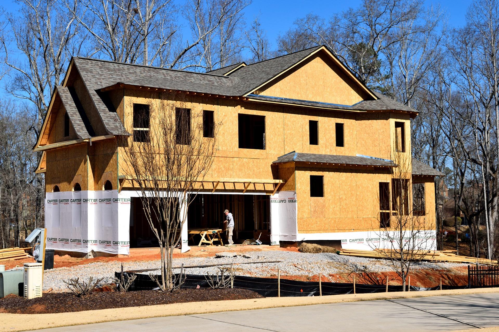 Photo: New house under construction